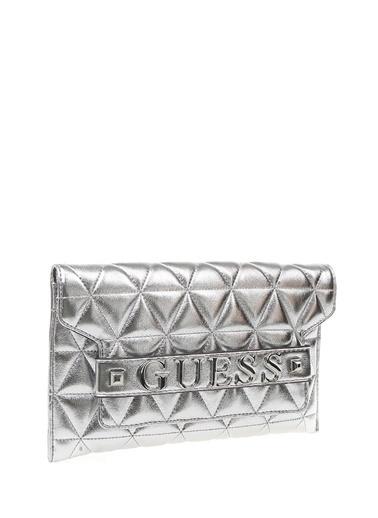 Guess Clutch / El Çantası Gümüş